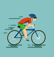 happy man riding a bike vector image