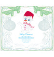 Happy snowman card vector image