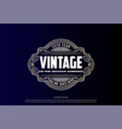 hipster luxury vintage badge emblem label logo vector image vector image