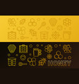 honey colored linear horizontal banners set vector image vector image