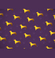 horizontal card pattern with yellow gold dogs vector image vector image
