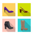 isolated object of footwear and woman symbol vector image