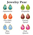 Jewelry Pear Isolated Objects vector image vector image