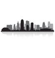Kansas city USA skyline silhouette vector image vector image