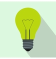 Light bulb icon flat style vector image vector image