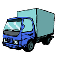 mall truck vector image vector image