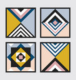 modern retro colors geometrical square tiles set vector image vector image