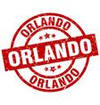 orlando red round grunge stamp vector image vector image