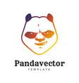 panda bear sport logo concept isolated