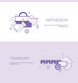 partnership and teamwork business cooperation vector image vector image