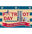 Patriot Day vintage design vector image vector image