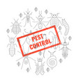 pest control insect stamp vector image