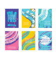 posters card witch color abstract backgrounds set vector image vector image