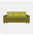 retro sofa mockup realistic style vector image vector image