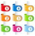 Ribbons with numbers vector | Price: 1 Credit (USD $1)