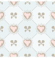 Seamless background with hearts and keys vector image