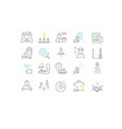 set line icons politics and state vector image