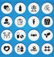 set of 16 editable fitness icons includes symbols vector image vector image