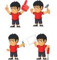 Soccer Boy Customizable Mascot 6 vector image vector image