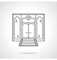 Store front door flat line icon vector image vector image