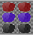 sunglasses with colored glass isolated on vector image