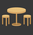 table vector image vector image