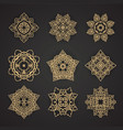 Thai art pattern design set vector image
