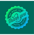 Thank you text lettering logo badge vector image vector image