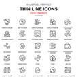 thin line environment renewable energy icons set vector image
