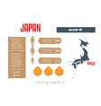 universal template for infographics with japan vector image