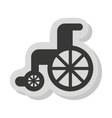 wheelchair disable isolated icon vector image vector image