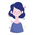 woman short hair portrait character avatar vector image vector image