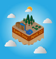 world earth day 22 april floating island vector image vector image