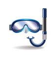 diving mask isolated vector image