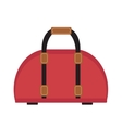 Female travel bag icon flat style Women isolated vector image