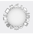 Line icons school school iconsModern infographic vector image