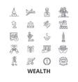 wealth banking money rich luxury success vector image