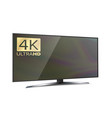 4k screen resolution smart tv ultra hd monitor vector image