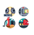 automotive accessories set vector image vector image