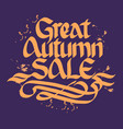 autumn sale typographical concept vector image vector image