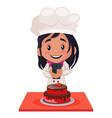 bakery girl cartoon character