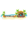 beach bar seychelles travel palm drink summer vector image vector image