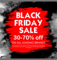 black friday sale shopping offer and promotion vector image vector image
