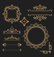 border and frame collection set vector image vector image
