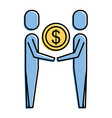 business people holding money coin dollar team vector image vector image