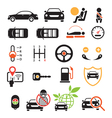 Car Specification and Performance Objects icons vector image