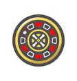 casino roulette wheel icon cartoon vector image