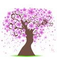 cherry tree background vector image vector image