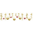 christmas clip art with baubles vector image vector image