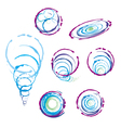 collection signs bubbles spiral handmade vector image